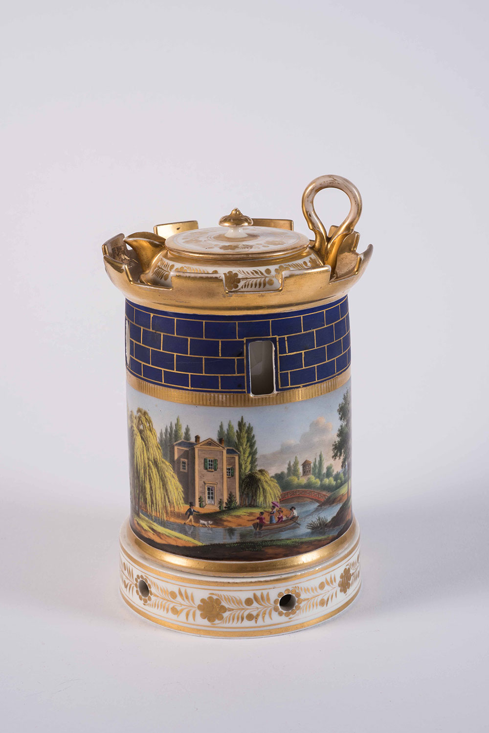 A French Early 19th Century Darte Freres Veilleuse Tea Warmer with Lidded Cup