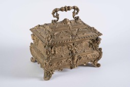 19th Century Continental Brass Jewelry/Trinket Box