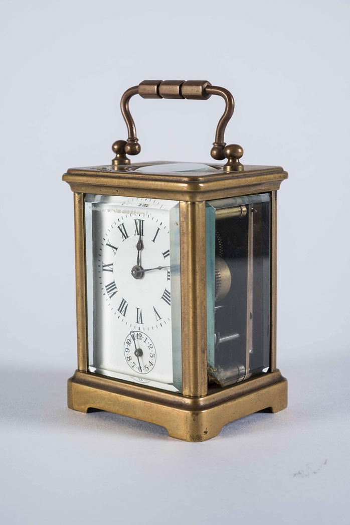 Late 19th Century French 8-Day Chiming Carriage Clock, Richard & Co.
