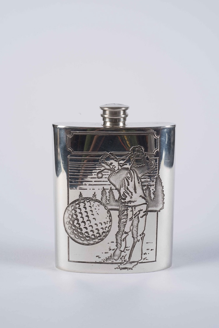 Stainless Steel Vintage Whiskey Flask