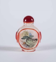 Antique Reverse Painted Chinese Snuff Bottle with Stopper