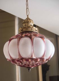 Glass and Brass Hanging Lantern