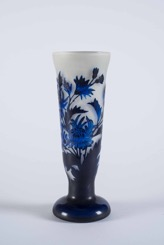 French Art Nouveau Etched Glass Cup