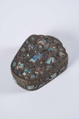 Small Chinese Cloisonné Lidded Box