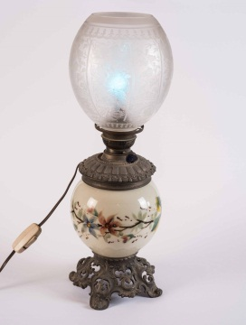Metal and Porcelain Table Lamp