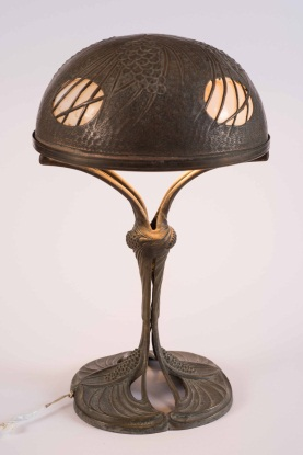 Bronze Art Nouveau Table Lamp