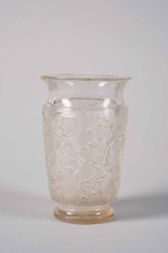 French Glass Vase in Lalique Style