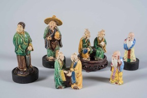 Set of Chinese Ceramic Figurines; Various