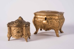 Two European Gilt Jewelry Boxes