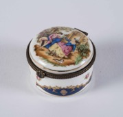 Porcelain Printed Miniature Trinket Box