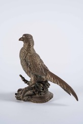 Bronze Sculpture of a Pheasant on Base