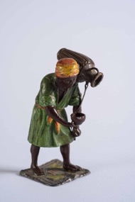 Austrian Cold Painted Bronze Depicting Oriental Beggar Man with Urn