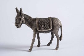 Pewter Figurine of a Donkey