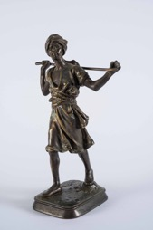 Orientalist Style Bronze Sculpture of a Peasant Man