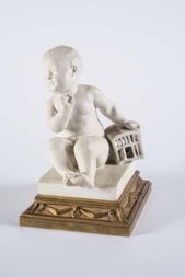 Continental Small Porcelain Cherub on Base