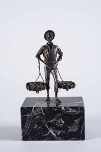 Bronze Figure of a Man on Marble Base