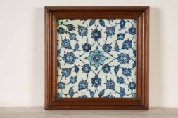 Framed Islamic Colored Tile