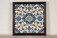 Set of Four Sequential Islamic Colored Tiles in Single Frame
