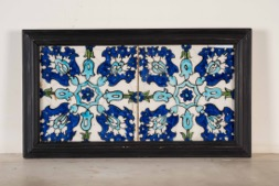 Pair of Sequential Islamic Colored Tiles in Frame