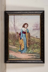 Pair of Water colors signed Mediric.  Juliet