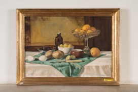 Oil on Canvas signed Farid 1982, Still Life