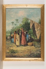 Orientalist Style Oil on Canvas Indistinctly Signed at Lower Right