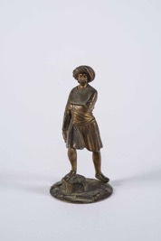 Orientalist Style Bronze Sculpture of an Arab Trader