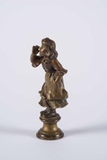 Small Bronze Figurine of a Girl on Stand